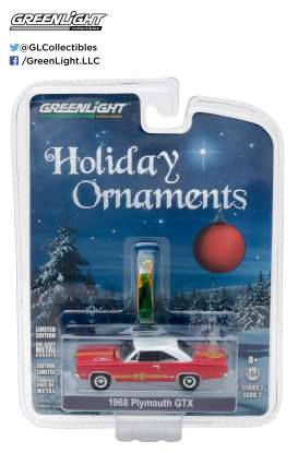 GreenLight - Plymouth  - gl37120C : 1968 Plymouth GTX *GreenLight Holiday Ornaments Series 2*