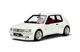 OttOmobile Miniatures - Peugeot  - otto681 : 1/18 Peugeot 205 Dimma *Resin Series*, white