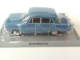 Moskvitch  - 412 blue - 1:43 - Magazine Models - PCmos412b - magPCmos412b | The Diecast Company