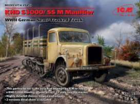 ICM - Military Vehicles  - icm35453 : 1/35 KHD S3000/SS M Maoltie WWII German Semitracked truck, plastic modelkit