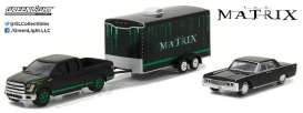 GreenLight - Ford Lincoln - gl31040B : 2015 Ford F150 with 1965 Lincoln Continental in Enclosed Car Hauler *The Matrix*, Hollywood Hitch & Tow Series 4