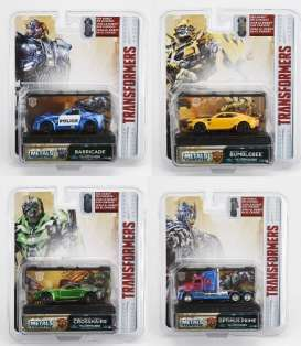 Jada Toys - Transformers Assortment/ Mix - jada14032~24 : 1/64 Transformers 5 Assortment of 24pcs in Nice Transformers 5 Packaging