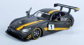 Mercedes Benz  - AMG GT3 race version 2016 black/yellow - 1:24 - Motor Max - mmax73784 | The Diecast Company