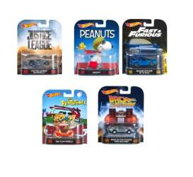 Hotwheels - Assortment/ Mix  - hwmvDMC55-956D~10 : 1/64 Retro Entertainment Assortment 956D. Mix box with 10pcs.