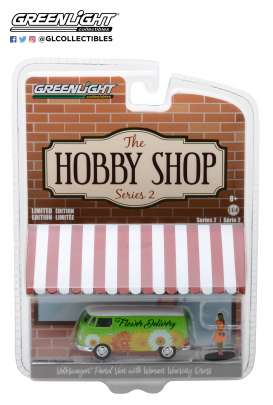 Volkswagen  - T2 panel van 1976 green/white - 1:64 - GreenLight - gl97020B | The Diecast Company