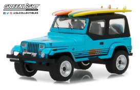 Jeep  - 1987 blue - 1:64 - GreenLight - gl97020C | The Diecast Company