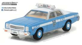 GreenLight - Plymouth  - gl42810B : 1977 Plymouth Fury New York City Police Dept NYPD *Hot Pursuit series 24*