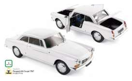 Norev - Peugeot  - nor184831 : 1967 Peugeot 404 Coupe, arosa white