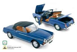 Peugeot  - 1967 mendoza blue - 1:18 - Norev - nor184832 | The Diecast Company