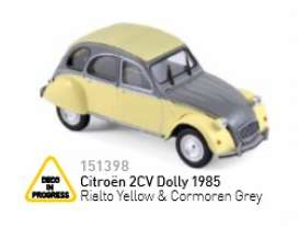 Norev - Citroen  - nor151398 : 1985 Citroen 2CV Dolly Rialto yellow/cormoran grey