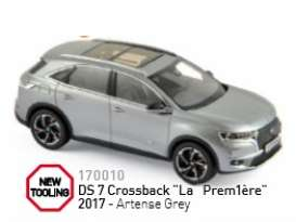 Norev - Citroen  - nor170010 : 2017 DS 7 Crossback La Premiere, artense grey