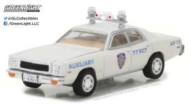 GreenLight - Plymouth  - gl42820C : 1977 Plymouth Fury New York City Police Dept (NYPD) Auxiliary *Hot Pursuit series 25*