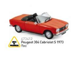 Peugeot  - 1973 red - 1:43 - Norev - nor473412 | The Diecast Company