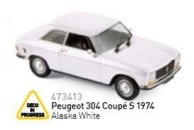 Peugeot  - 1974 alaska white - 1:43 - Norev - nor473413 | The Diecast Company
