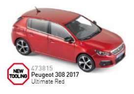 Norev - Peugeot  - nor473815 : 2017 Peugeot 308, ultimate red