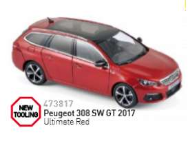 Norev - Peugeot  - nor473817 : 2017 Peugeot 308 SW GT, ultimate red