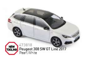 Norev - Peugeot  - nor473818 : 2017 Peugeot 308 SW GT, pearl white
