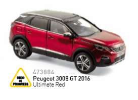 Norev - Peugeot  - nor473884 : 2016 Peugeot 3008 GT, ultimate red