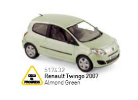 Renault  - 2007 almond green - 1:43 - Norev - 517432 - nor517432 | The Diecast Company