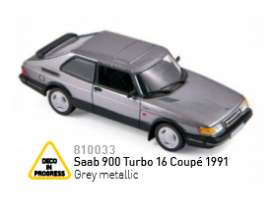 Norev - Saab  - nor810033 : 1991 Saab 900 Turbo 16 Coupe, grey metallic