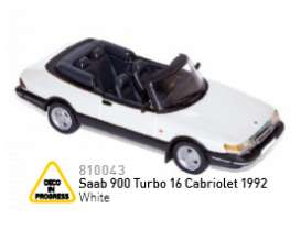 Norev - Saab  - nor810043 : 1992 Saab 900 Turbo 16 Cabriolet, white