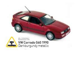 Volkswagen  - 1990 darkburgundy metallic - 1:43 - Norev - nor840094 | The Diecast Company