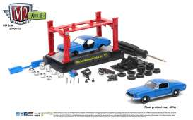 M2 Machines - Ford  - M2-37000-13C : 1968 Ford Mustang GT Cobra Jet *M2 Model kit series 13*, blue/black
