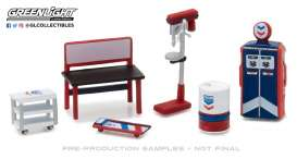 GreenLight - Accessoires diorama - gl13157 : 1/64 GL Muscle Shop Tools *Standard Oil*
