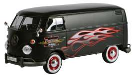 Motor Max - Volkswagen  - mmax79566 : Volkswagen Type 2 (T1) Delivery van *Custom Garage*, matt black with flames