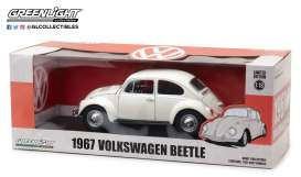 GreenLight - Volkswagen  - gl13510 : 1967 Volkswagen Beetle Right-Hand Drive *Lotus White*, white