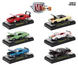 M2 Machines - Assortment/ Mix  - M2-32600-38~6 : 1/64 Detroit-Muscle Release 38, assortment of 6.