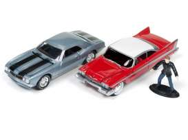 Plymouth Chevrolet - *Christine* red/white/silver/black - 1:64 - Johnny Lightning - DR001B - JLDR001B | The Diecast Company