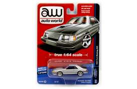 Ford  - Mustang SVO 1984 silver - 1:64 - Auto World - 64051A - AW64051A | The Diecast Company