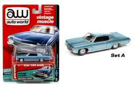 Chevrolet  - 1970 blue metallic - 1:64 - Auto World - AW64102A | The Diecast Company