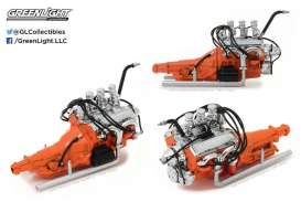 Ford Engine - 1932 chrome/orange - 1:18 - GreenLight - gl12977 | The Diecast Company