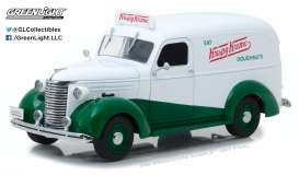 "GreenLight - Chevrolet  - gl18240 : 1939 Chevrolet Panel Truck ""Krispy Kreme Doughnuts*Running on Empty*"