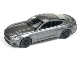Auto World - Ford  - AW64092-24B : 2017 Ford Mustang GT, metallic grey