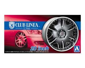 Aoshima - Wheels & tires  - abk153850 : 1/24 Club Linea L566 20inch, plastic modelkit