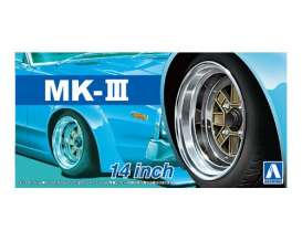 Wheels & tires  - 1:24 - Aoshima - abk153898 | The Diecast Company