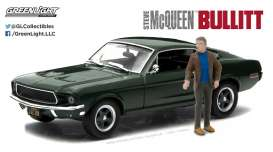 Ford  - Mustang GT Fastback *Bullitt* 1968 green - 1:43 - GreenLight - 86433 - gl86433 | The Diecast Company