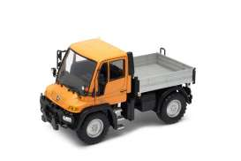 Unimog Mercedes Benz - orange/grey - 1:32 - Welly - welly32380Co | The Diecast Company