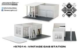 GreenLight - Accessoires  - gl57014 : 1/64 Vintage Gas Station Plain White (Hobby Exclusive) *Mechanic