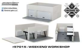 GreenLight - Accessoires  - gl57015 : 1/64 Weekend Workshop Plain White (Hobby Exclusive) *Mechanic