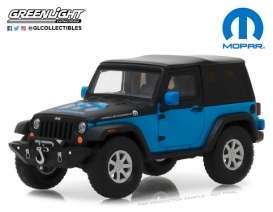 Jeep  - Wrangler  2010 blue/black - 1:43 - GreenLight - gl86092 | The Diecast Company