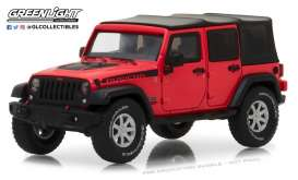 Jeep  - Wrangler Rubicon Unlimited 2017 red - 1:43 - GreenLight - gl86093 | The Diecast Company
