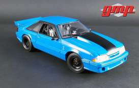 "GMP - Ford  - gmp18881 : 1993 Ford Mustang Cobra ""King Snake"" 1320 Drag Kings, grabber blue"