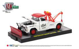 M2 Machines - Chevrolet  - M2-32500-44C : 1958 Chevrolet Apache Tow Truck, bright white/bright red