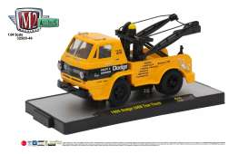 M2 Machines - Dodge  - M2-32500-44E : 1966 Dodge L600 Tow Truck, national school bus yellow