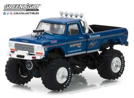 Ford  - F250 Monster Truck 1974 blue - 1:64 - GreenLight - 29934 - gl29934 | The Diecast Company