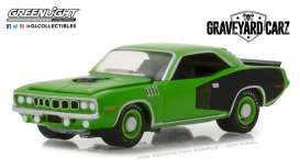 Plymouth  - Cuda 1971 green - 1:64 - GreenLight - gl44800E | The Diecast Company